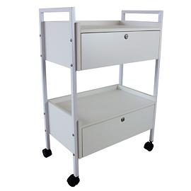 Mesa auxiliar con 2 gavetas